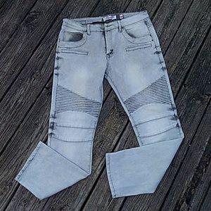 Moto style jeans
